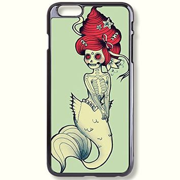 Pink Peri™ Sugar Skull Ariel Protective Hard Phone Case For iPhone 6 Plus (5.5 inch) case