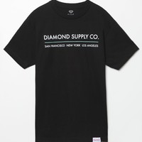 Diamond Supply Co Cities T-Shirt - Mens Tee - Black