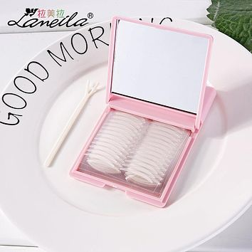 LAMEILA 240 Pairs Double Eyelid Tape Pastes with Mirror Super Invisible Eyelid Sticker Makeup Eyelid Tapes Eyeliner Sticker