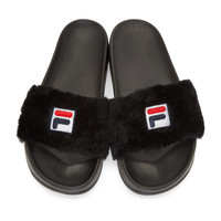 Black Fila Edition Drifter Slides