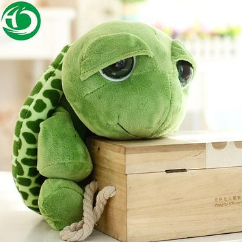 20 cm New arriving Green Big Eyes Turtle dolls Cute Soft plush Tortoise high quality Funny Stuffed Animal Toy Gift for kids