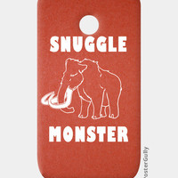 Snuggle Monster Moto E Cases | Artist : Dr. Green