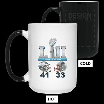 Super Bowl 52 Final Score 41 - 33 21550 15 oz. Color Changing Mug