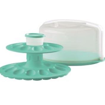 Tupperware | Round Cake Taker with FREE Egg-ceptional Server Set SHOP THIS LINK: http://order.tupperware.com/pls/htprod_www/home