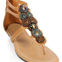 stone and bead strap sandal - debshops.com