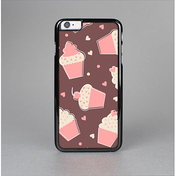 The Pink Outlined Cupcake Pattern Skin-Sert for the Apple iPhone 6 Plus Skin-Sert Case