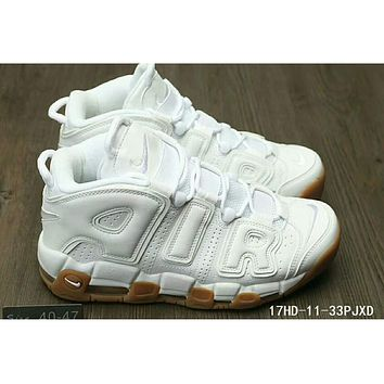 Nike Air More Uptempo men and women casual fashion shoes F-HAOXIE-ADXJ White