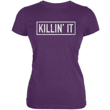 Killin' It Purple Juniors Soft T-Shirt