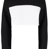Keira Colour Block Crop Sweat | Boohoo