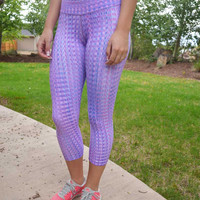 Mosaic Sublimination Capri Leggings