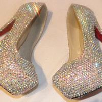 Swarovski Crystal AB Platform Heels Sparkly Perfection