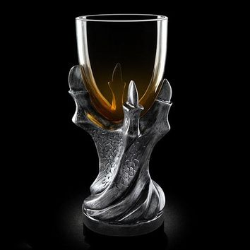 3D dragon claw mug resin glass Skull goblet mug personal Skeleton whiskey beer mug creative Claw mug