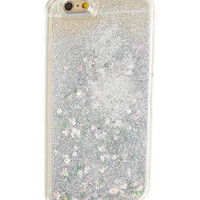Silver Floating Glitter Liquid Case for iPhone