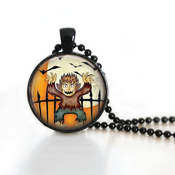 Halloween Necklace Halloween Pendant Halloween Party Jewelry Monster Pendant Halloween Jewelry Halloween Party Jewelry Holiday Necklaces