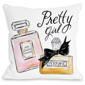 """Pretty Girl Perfume"" Indoor Throw Pillow by Timree Gold, 16""x16"""