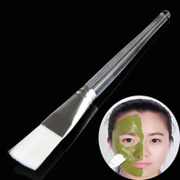 1Pcs Facial Mask Brush Plastic Handle Cosmetic Tools Soft Fiber Hair Foundation Makeup Face Treatment Salon Beauty Tool