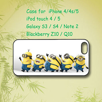 Minion ,Despicable me, Samsung Galaxy S4, Samsung Galaxy S3, Samsung note 2, blackberry z10, Q10,iPhone 4 Case, iPhone 5 Case, ipod case