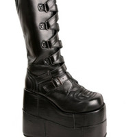 Demonia By Pleaser Stacked Strap Boots