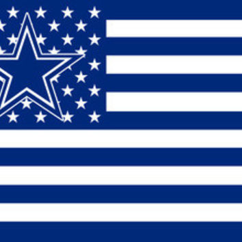 NFL Dallas Cowboys Flag 3' x 5' Stars & Stripes Banner