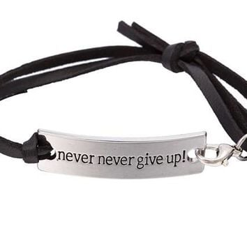 Never Never Give Up Bracelet