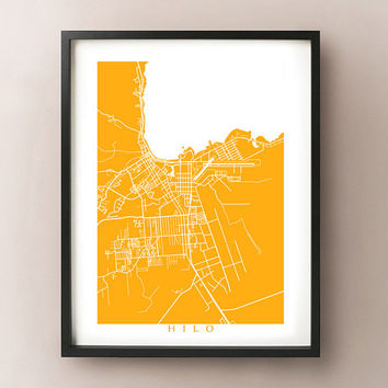 Hilo, Hawaii Map Print