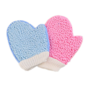 2pcs New Shower Scrubber Back Scrub Exfoliating Body Massage Sponge Bath Gloves