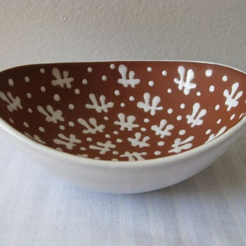 Zeuthen Bowl Danish Pottery Mid Century Modern by pillowsophi