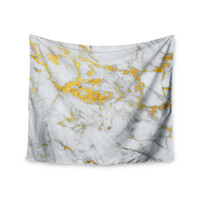 "KESS Original ""Gold Flake"" Marble Metal Wall Tapestry"