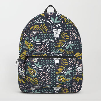 Bohemian Rhapsody Midnight Backpack by Heather Dutton
