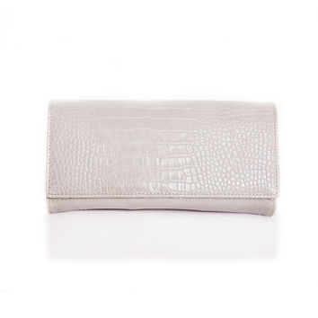 Primrose Snakeskin Clutch in Natural