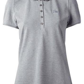 Burberry Brit Ruche Check Collar Polo Shirt