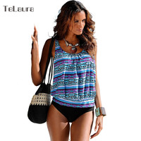 Sexy Tankini Bikinis Women Brazilian Bikini 2017 Plus Size Swimwear Biquini High Waist Swimsuit Two Pieces Bathing Suit XXXL