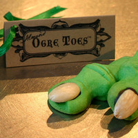 Ogre Toes Cookie Party Pack of 60 shortbread cookies, Almond or Maple