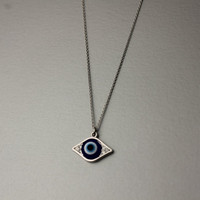 Evil eye, 3rd eye Necklace -  Available color as listed ( Gold, Silver )