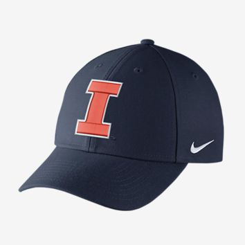 Illinois Fighting Illini Nike Dri-Fit Wool Classic Adjustable Hat