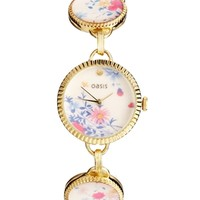 Oasis Patterned Bracelet Watch With Patterned Dial
