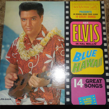 Vintage Vinyl Record Elvis Presley Blue Hawaii - 1961 - Can't Help Falling In Love