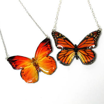 Shop Monarch Butterfly Necklace on Wanelo 773059f4df4b