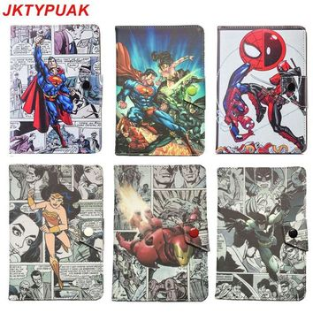 "Deadpool Superman Batman Spiderman Hulk 7.0"" 7inch Universal Case Cover for megafon Login 3 MT4A Login3 MFLogin3T 7"" Tablet PC"