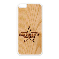 Carved on Wood Effect_Celebrity Hater White Silicon Rubber Case for iPhone 6 Plus by Chargrilled