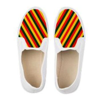 Rasta Stripes Men's Shoes> Cool Kicks> Saytoons