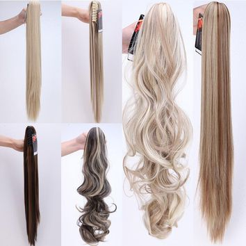 "26"" 66cm Long Straight Ponytail Wigs Claw Clip Hair Pieces Hair Extensions Hair Accessories"
