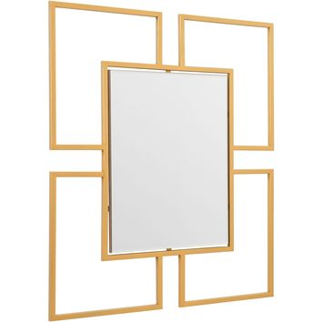 Gold Cuatro Wall Mirror