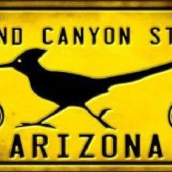 Arizona Grand Canyon Route 66 Roadrunner Sign Tag License Plate
