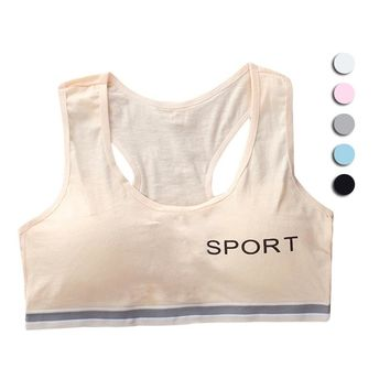 Young Girl Bra Cotton Training Bra Kids Girls Underwear for Sport Wireless Small Training Puberty Bras Undergarment Clothes