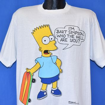 80s Bart Simpson Who the Hell Are You Deadstock t-shirt Large
