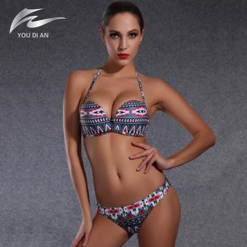 2016 New Arrival Women Push up Bikini Set Retro Swimsuit Brazilian biquinis Swimwear Beach Bathing Suit maillot de bain femme