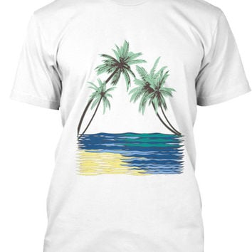 Kahala Palms Men's Surf Shirt