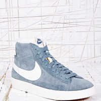 Nike Blazer High-Top Suede Trainers in Grey at Urban Outfitters