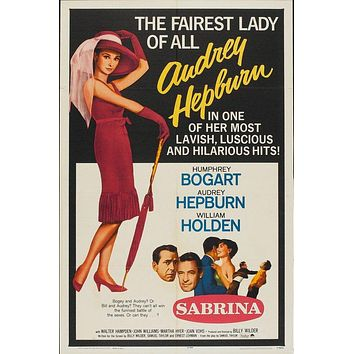 Vintage Sabrina Movie Poster//Classic Movie Poster//Movie Poster//Poster Reprint//Home Decor//Wall Decor//Vintage Art